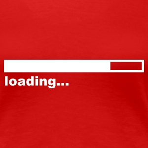 Red Loading Bar Ladies' - Women's Premium T-Shirt