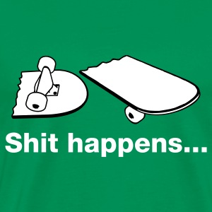 Grass green Skate - Skateboarding - Shit happens Men's Tees - Men's Premium T-Shirt