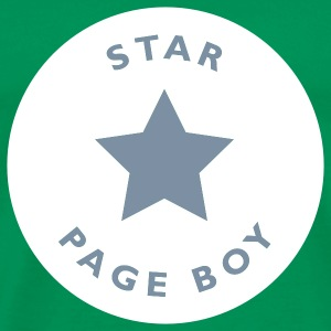 Bottlegreen Star Pageboy T-Shirt - Männer Premium T-Shirt