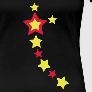 Stars 3,girli,black, - Frauen Premium T-Shirt