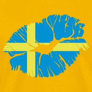Geel swedish kiss Heren t-shirts - Mannen Premium T-shirt