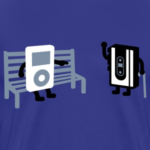 Royalblau analog vs digital T-Shirt - Männer Premium T-Shirt
