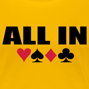 Gelb All In Pokerstars Girlie - Frauen Premium T-Shirt