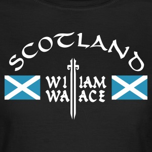 Chocolate Scotland William Wallace Girlie - Frauen T-Shirt
