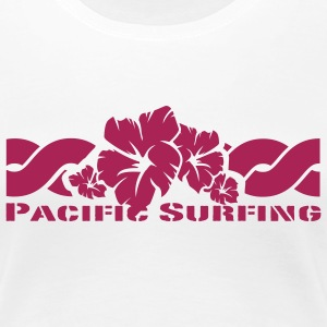 Weiß Pacific Surfing Girlie - Frauen Premium T-Shirt