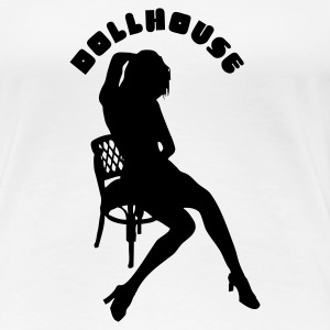 Weiß dollhouse Girlie - Frauen Premium T-Shirt