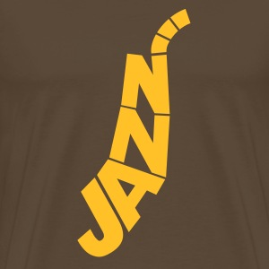 Brown Jazz Logo  Men's Tees (short-sleeved) - Men's Premium T-Shirt