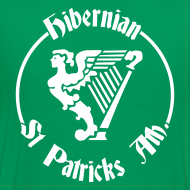 Design ~ BACKPRINT hibs & st pats  (you choose the colour of this item)