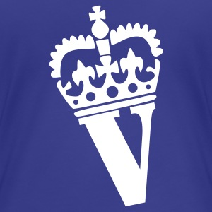 Aqua V - Crown - Letters - Name Ladies' - Women's Premium T-Shirt