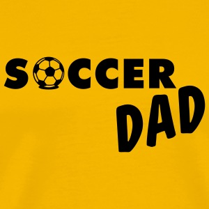 Yellow Soccer Dad T-Shirts - Men's Premium T-Shirt