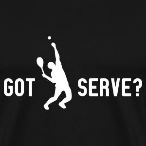 Schwarz got serve? (monochrome) T-Shirt - Männer Premium T-Shirt