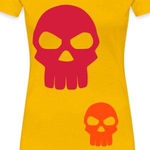 Yellow Skull Ladies' - Women's Premium T-Shirt