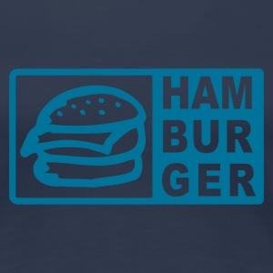 Navy Hamburger Girlie - Frauen Premium T-Shirt