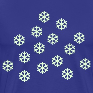 Sky Snowstorm - Snow - Winter Heren t-shirts - Mannen Premium T-shirt