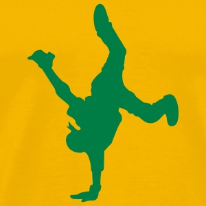 Amarillo Breakdancer camiseta - Camiseta premium hombre