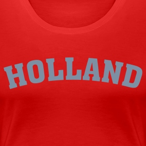 Rød Holland Girlie - Premium T-skjorte for kvinner