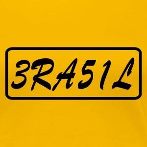 Yellow Brazil Ladies' - Women's Premium T-Shirt