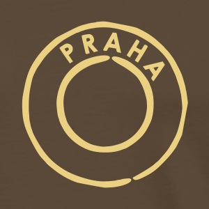 Brown Praha - Prague Postmark Men's Tees (short-sleeved) - Men's Premium T-Shirt