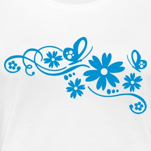 Weiß flower tribal tattoo design Girlie - Frauen Premium T-Shirt
