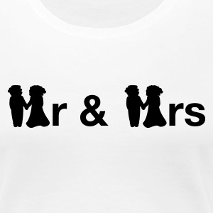 Hvit Mr Mrs Girlie - Premium T-skjorte for kvinner