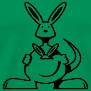 Grass green Kangaroo T-Shirts - Men's Premium T-Shirt