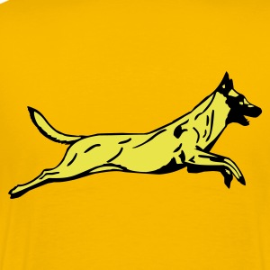 Jumping dog - Men's Premium T-Shirt