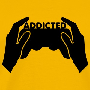 Yellow addicted T-Shirts - Men's Premium T-Shirt