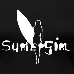 Surfergirl outline - Frauen Premium T-Shirt