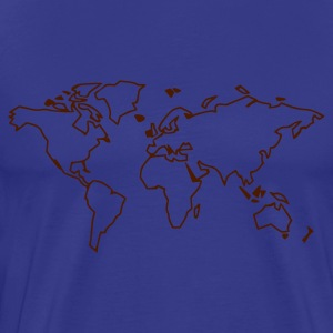 Himmelsblå World map T-shirts (kort ärm) - Premium-T-shirt herr