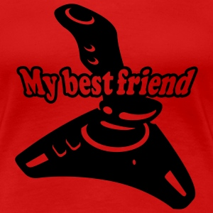 Rot My best Friend Girlie - Frauen Premium T-Shirt