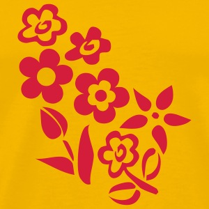 Yellow flowers T-Shirts - Men's Premium T-Shirt