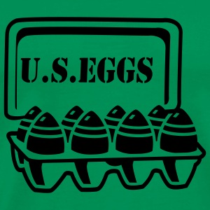 Grass green U.S. eggs T-Shirts - Men's Premium T-Shirt