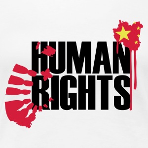Weiß CHINA HUMAN RIGHTS Girlie - Frauen Premium T-Shirt