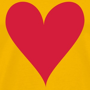 Yellow Heart T-Shirts - Men's Premium T-Shirt