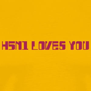Yellow H5N1 Loves You T-Shirts - Men's Premium T-Shirt