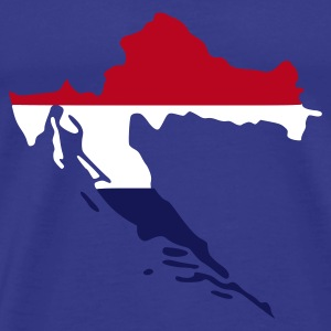 Sky Croatia flag map - Hrvatska T-Shirts - Men's Premium T-Shirt