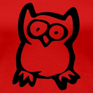 Red Owl Ladies' - Women's Premium T-Shirt