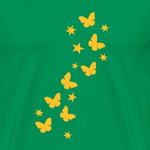 Bottlegreen butterfly_stars T-Shirts - Men's Premium T-Shirt