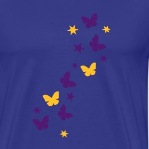 Royal blue butterfly_stars1 T-Shirts - Men's Premium T-Shirt