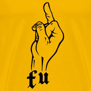 Yellow f_u_fuck_you T-Shirts - Men's Premium T-Shirt