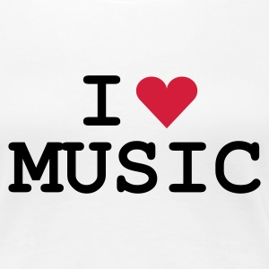 Weiß love_music Girlie - Dame premium T-shirt