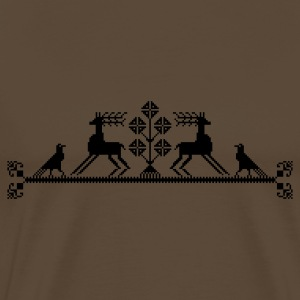 landscape with raven and stag - Men's Premium T-Shirt