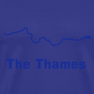Sky Thames river course map T-Shirts - Men's Premium T-Shirt