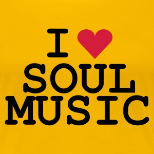 Gelb love_soulmusic Girlie - Dame premium T-shirt