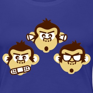 Türkis three wise monkeys Girlie - Frauen Premium T-Shirt