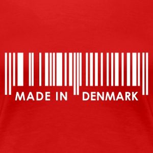 Red Bar Code Made in Denmark Ladies' - Women's Premium T-Shirt