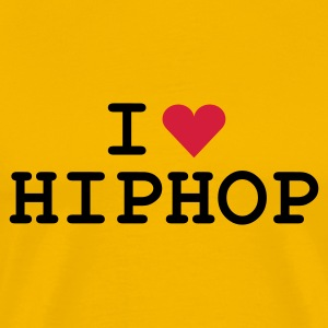 Gelb love_hiphop T-Shirt - Herre premium T-shirt