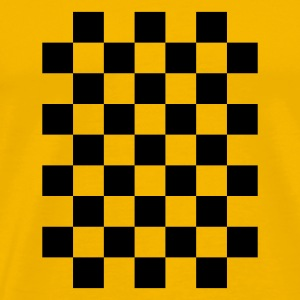 Yellow check T-Shirts - Men's Premium T-Shirt
