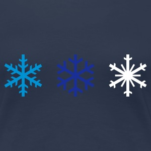 Navy snowflakes Girlie - Dame premium T-shirt