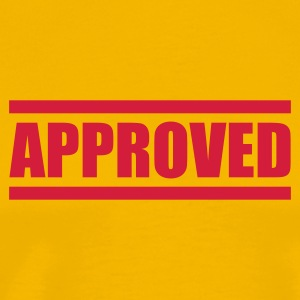 Yellow approved T-Shirts - Men's Premium T-Shirt